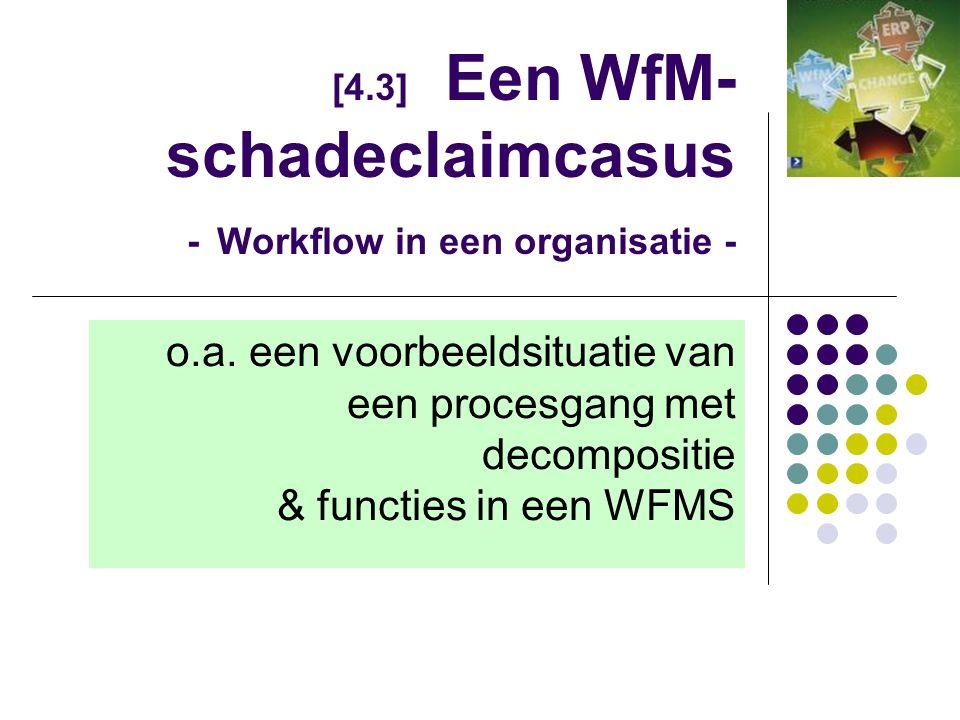 [4.3] Een WfM-schadeclaimcasus - Workflow in een organisatie -
